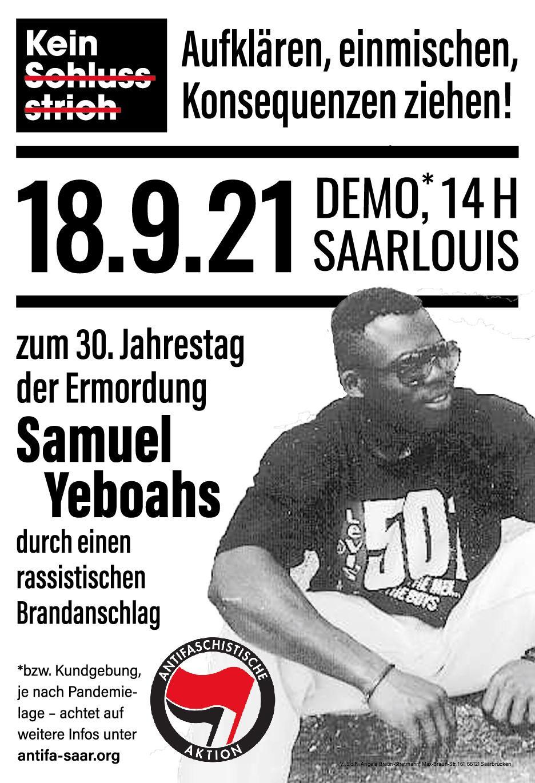 Aufruf zur Demonstration: Samstag 18. September 2021 / 14:00 Uhr / Saarlouis Hauptbahnhof
